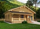 Проект жилого дома с террасами и гаражом