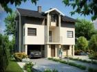 Проект двухэтажного просторного дома с гаражом